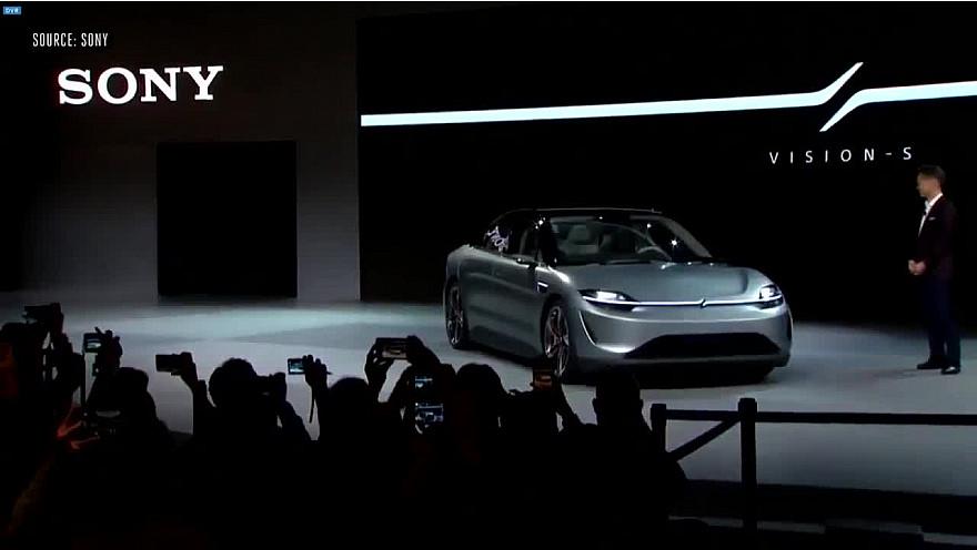 CES 2020 Las Vegas :  Sony et sa voiture électrique VISION-S #CES2020 de #LasVegas @jblefevre60 @Ym78200 @pierrepinna @ipfconline1 @labordeolivier @tewoz @PironTristan @MichaGUERIN @zeromasswater